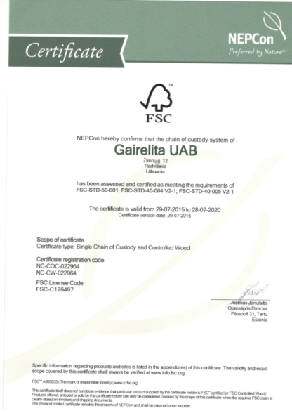 Certificato Pellet Fuoco Pulito