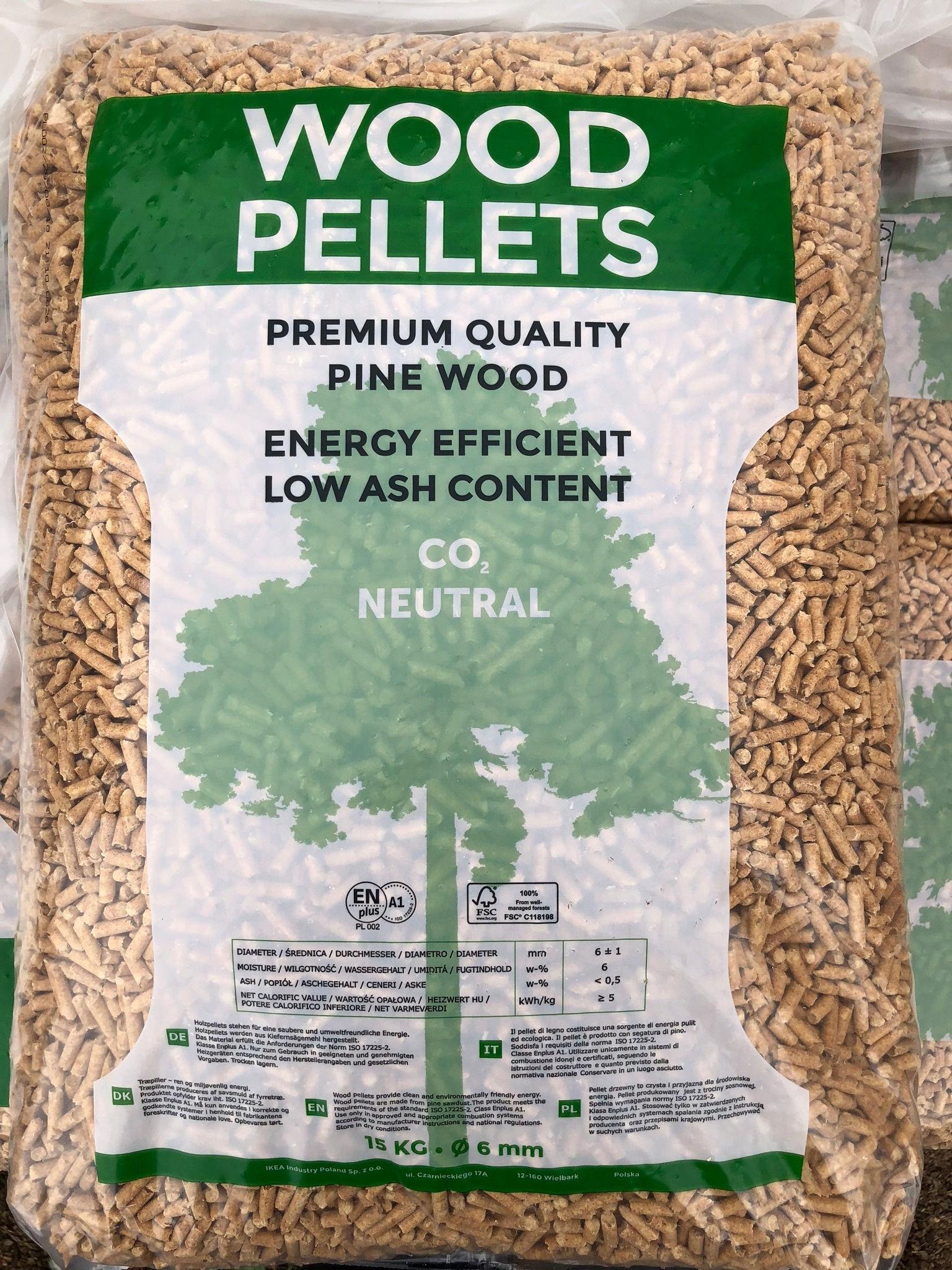 Sacco di Wood Pellet